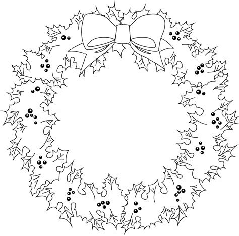 Christmas Wreath Coloring Page Coloring Home Wreath Coloring Pages