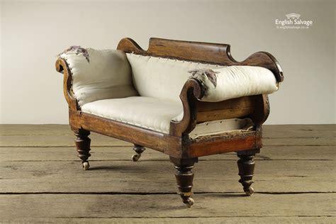 unusual apprentice piece small vintage sofa