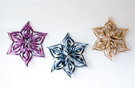 how to make diy over sized snowflake decorations for the