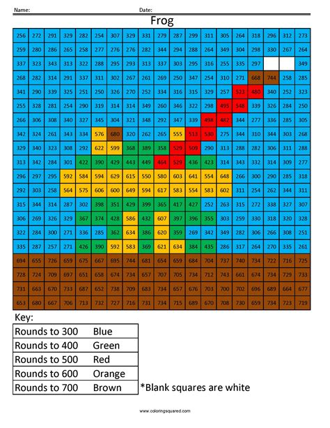 rounding numbers coloring pages rounding coloring squared