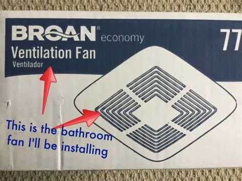 broan bathroom fan installation broan bathroom exhaust fan installation