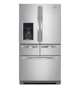Whirlpool double drawer refrigerator stainless steel with temperature