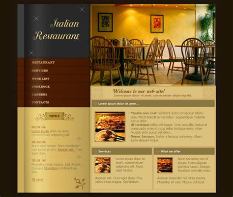 restaurant website layout design 50 useful and detailed photoshop web layout tutorials