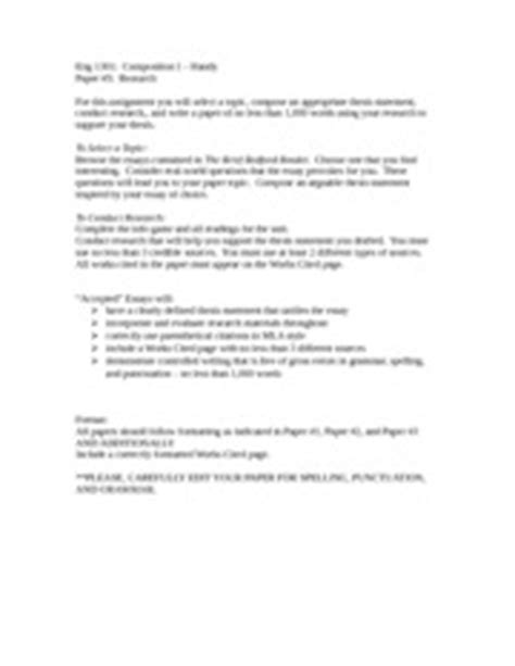 research paper assignment sheet ability to evaluate a of writing using specified or