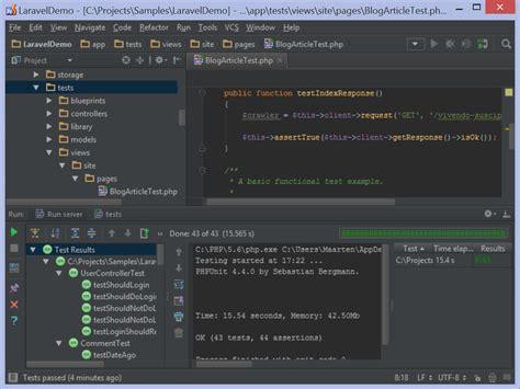tutorial php unit testing phpunit laravel laravel development using phpstorm phpstorm confluence