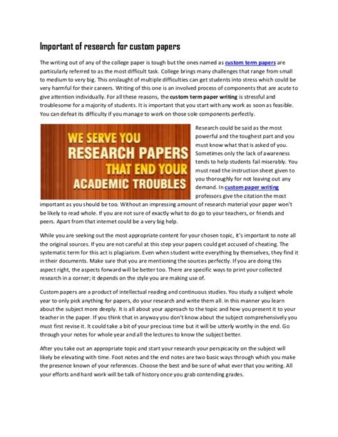 Custom Term Papers And Essays by Custom Written Term Paper 187 Original Content