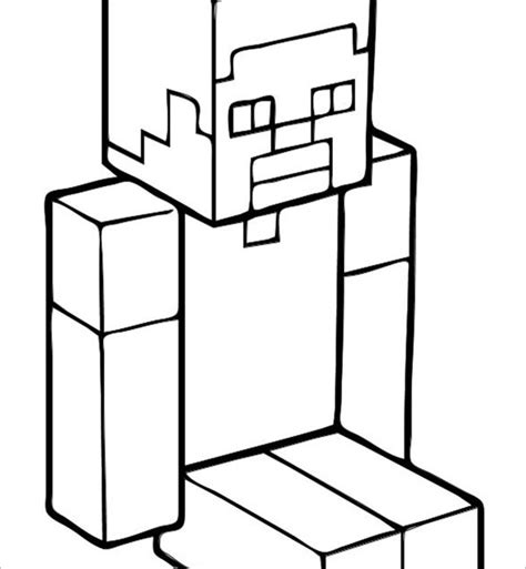 minecraft steve coloring pages printable minecraft coloring pages 21 free printable word pdf