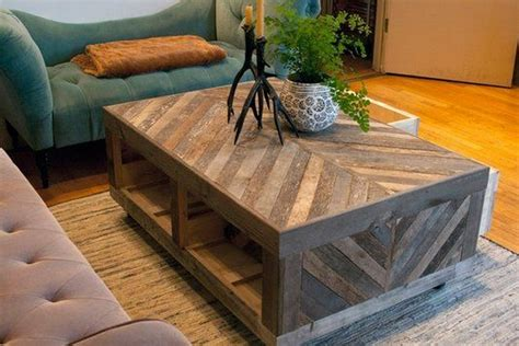 Build A Coffee Table With Storage Chevron Pallet Coffee Tables Pallet Wood Projects