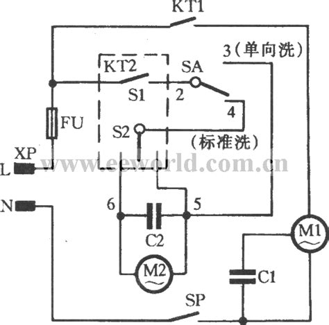 timer ordinary washing machine circuit