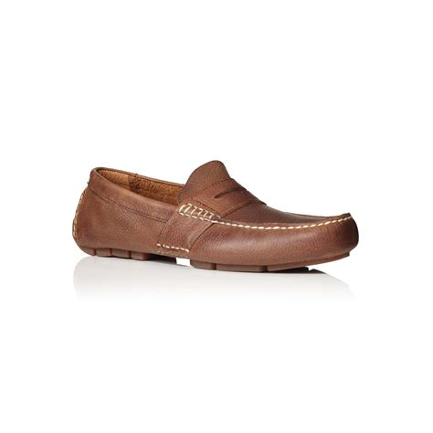 ralph loafers polo ralph telly driver loafers in brown for lyst