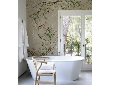 Tapete Badezimmer by Blumen Tapete In Mauer Optik F 252 Rs Badezimmer New