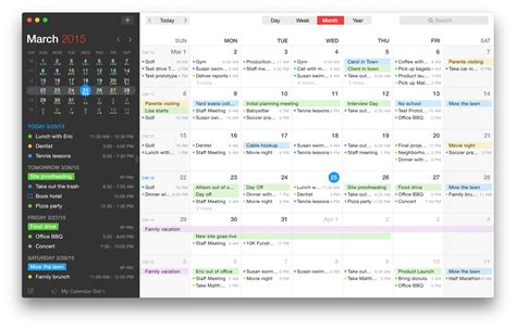 Calendar Design Software For Mac | fantastical 2 is the calendar app your mac has been