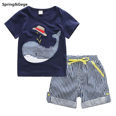 whale pattern clothes 2 5y boys clothing sets 2016 new baby boy summer clothes