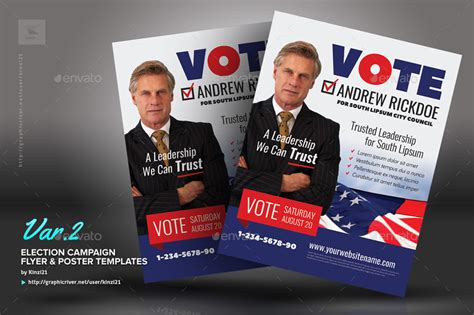 vote poster template election caign flyer or poster templates by kinzi21