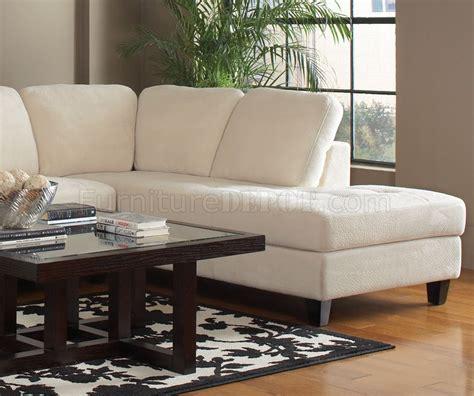 walker sectional sofa  coaster   white fabric