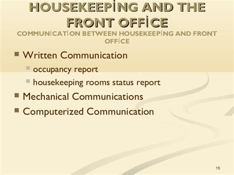 housekeeping room status unit 1 the of housekeeping in hospitality operations