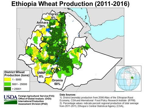 east africa crop production maps