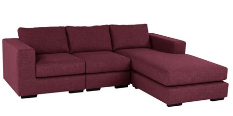 Microfiber L Shaped Buy Emilio Superb Lhs Sofa In Maroon Colour By Furny
