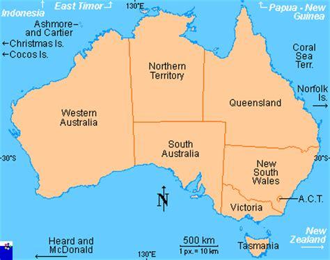 australia province map australia