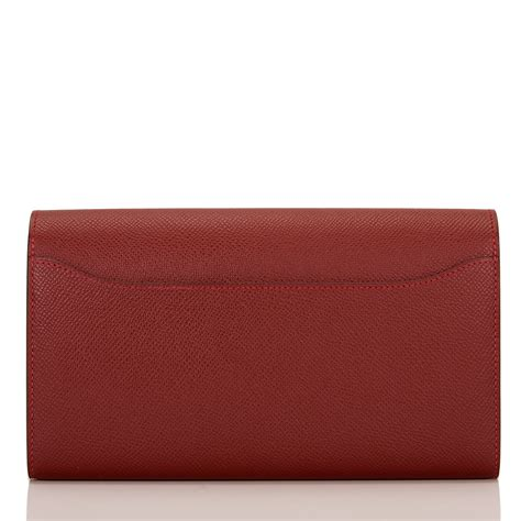 Hermes Wallet by Hermes Constance Wallet H Epsom Palladium
