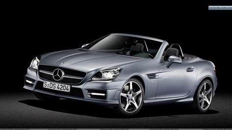mercedes benz silver front side view of silver mercedes benz slk 350 wallpaper