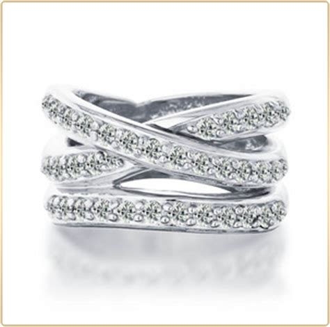 anyone a criss cross or cut out wedding band