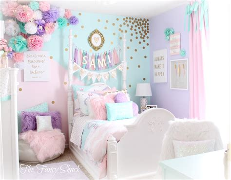 the fancy shack pastel room makeover