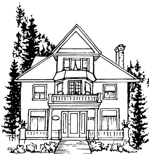 home drawings line drawing house clipart best