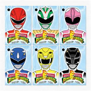 power rangers birthday party thank you favor tags by mummytofu