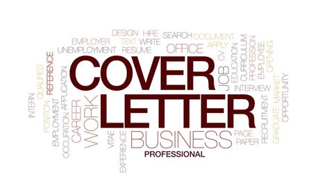 cover letter animated word cloud text design animation