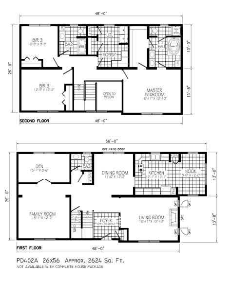 Floor Plan For Two Story House Small Two Story Cabin Floor Plans With House Under 1000 Sq
