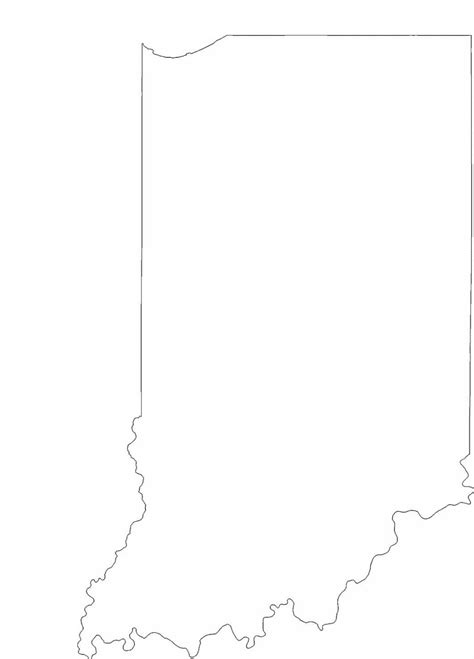 indiana state map coloring page indiana state outline map free download