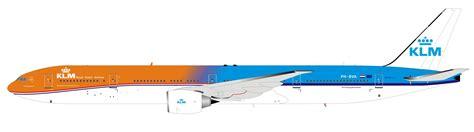 Bva Search Highly Detailed Inflight Model Diecast Model Airplane Klm Orange Pride Boeing 777 300