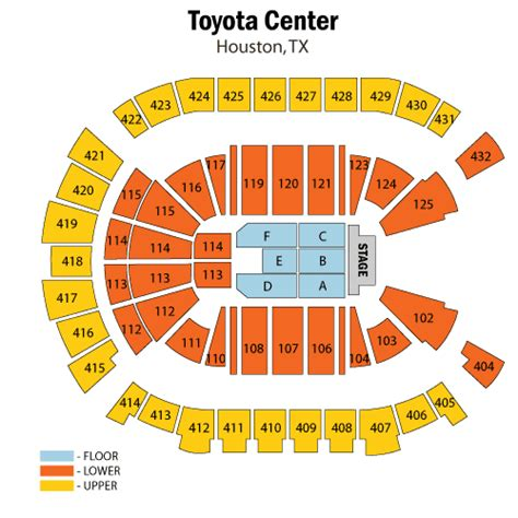 Seating At Toyota Center May 17 Tickets Houston Toyota Center Tx