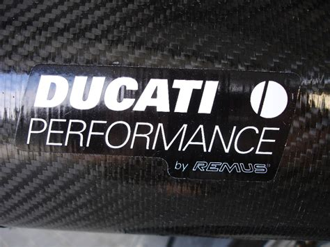 Ducati Ecu Sticker by New Exhaust Should I Remove Remus Sticker Or Replace It