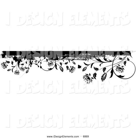 header design black and white clip art of a black and white grunge floral border or