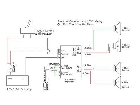 4 channel lifier speaker wiring diagram get free