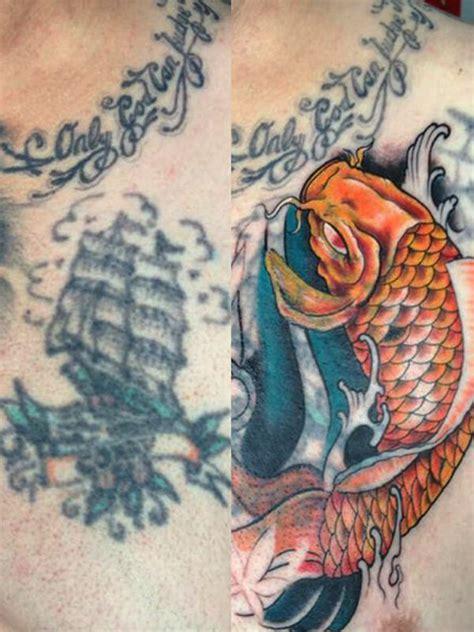 koi karper tattoo voorbeelden cover up tattoo laten zetten lees de betekenis info en tips
