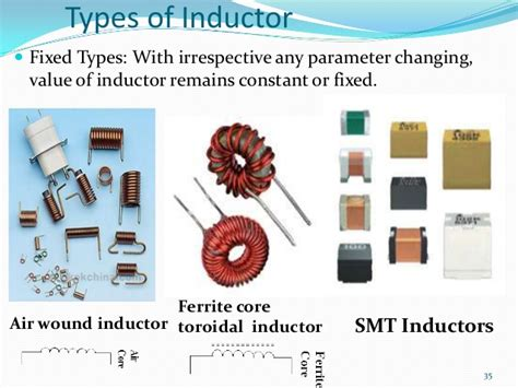 different types of inductors ppt new electronics slides