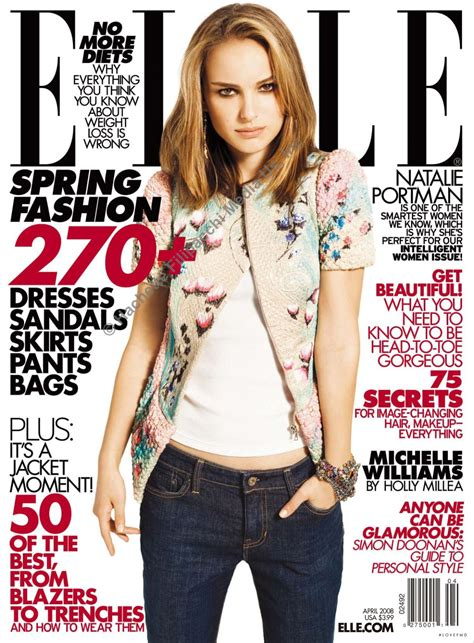 Is Elles September 2008 Cover by Cover Of Usa With Natalie Portman April 2008 Id