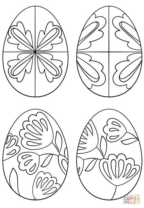 Pysanky Eggs Coloring Page | pysanky eggs coloring page free printable coloring pages
