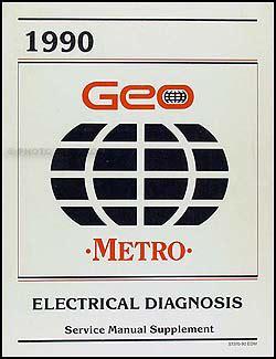 1990 geo metro repair shop manual original
