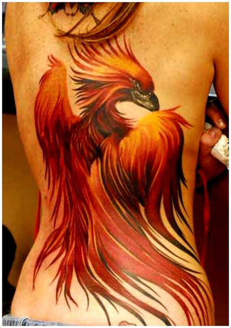phoenix tattoo red full red phoenix bird tattoo designs for women on back