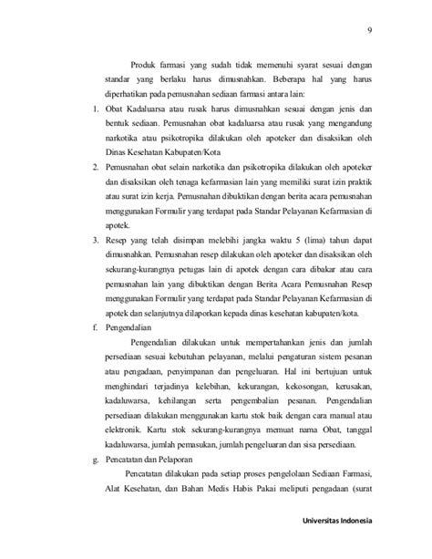 format berita acara pemusnahan obat kadaluarsa sri puji astuti laporan pkpa di apotek ff full text 2016