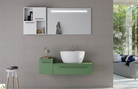 mobili bagno colorati bagno con lavabo soprapiano frazier arredo design