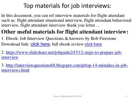 here are some sample questions for flight attendant job interviews
