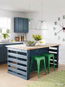 pallet kitchen island pinterest diy our came with pushed against the wall after