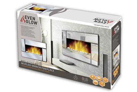 Even Glow Electric Fireplace by Even Glow Reflection Beveled Mirror Fireplace