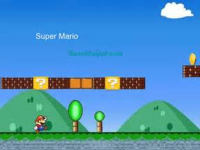 cartoon powerpoint template super mario