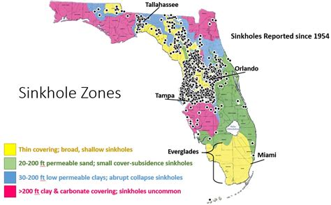 sinkhole map of florida easy science how sinkholes form lucky sci